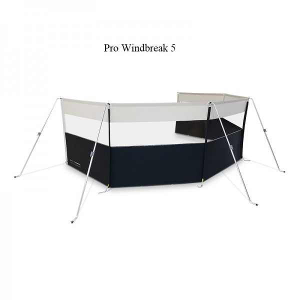 Kampa Pro Windbreak 5, (BxH) 765 x 140 cm